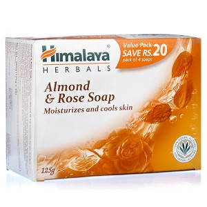 Buy Himalaya Herbals Almond & Rose Soap Pack Of 4 (Save Rs.20/-) - Nykaa