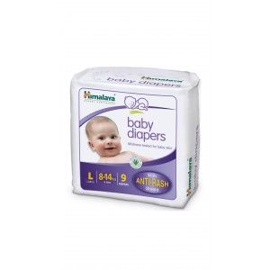 Buy Himalaya Baby Care Baby Diapers Large - 9S Diapers - Nykaa