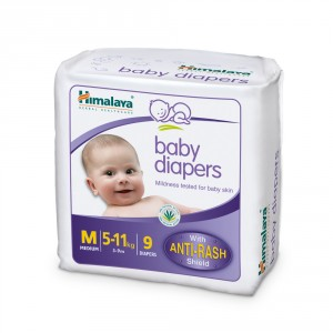 Buy Himalaya Baby Care Baby Diapers Medium - 9 Diapers - Nykaa