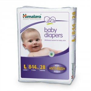 Buy Himalaya Baby Care Baby Diapers Large - 28 Diapers - Nykaa