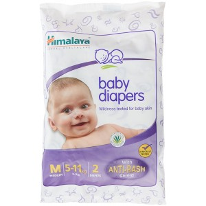 Buy Himalaya Baby Care Baby Diapers Medium - 2 Diapers - Nykaa