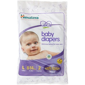 Buy Himalaya Baby Care Baby Diapers Large - 2S Diapers - Nykaa