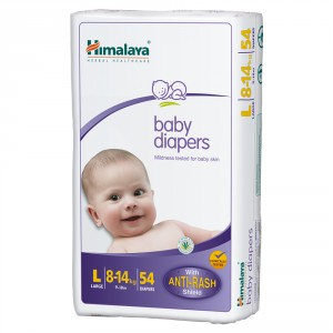 Buy Himalaya Baby Care Baby Diapers Large - 54 Diapers - Nykaa