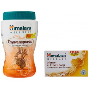 Buy Himalaya Wellness Chyavanaprasha  + Honey And Cream Soap - Nykaa