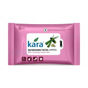 Buy Kara Refreshing Face Wipes With Cucumber And Aloe Vera (30 Wipes) - Nykaa