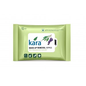 Buy Kara Make-Up Removal Wipes With Seaweed And Lavender (10 Wipes) - Nykaa