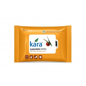 Buy Kara Sunscreen Wipes With Plum And Aloe Vera (10 Wipes) - Nykaa
