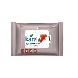 Buy Kara Moisturizing Wipes With Honey And Almond (10 Wipes) - Nykaa