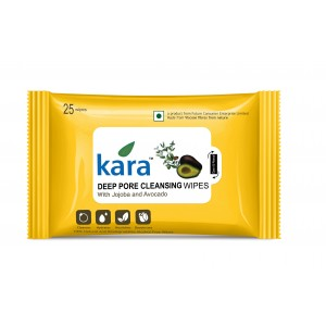 Buy Kara Deep Pore Cleasing Wipes With Jojoba And Avocado (25 Wipes) - Nykaa