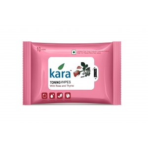 Buy Kara Toning Wipes With Rose & Thyme (10 Wipes) - Nykaa