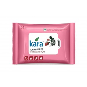 Buy Kara Toning Wipes With Rose & Thyme (25 Wipes) - Nykaa
