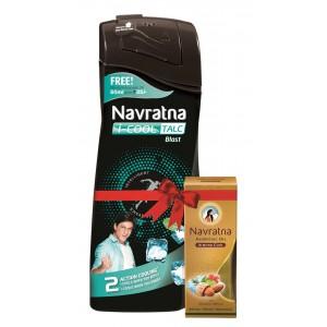 Buy Navratna I-Cool Talc Blast With Free Navratna Almond Cool Oil(Worth Rs.35) - Nykaa