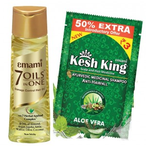 Buy Emami Hair Life 7 In 1 Oil + Free Emami Kesh King Anti-Hairfall Shampoo 4 Sachets Worth Rs.12  - Nykaa