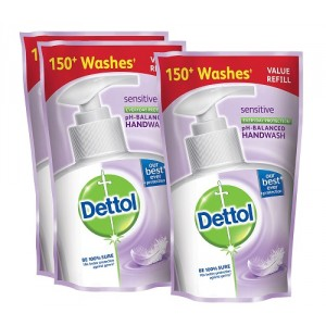Buy Dettol Sensitive Liquid Hand Wash (175 ml)(Buy 2 Get 1 Free)(Off Rs.49) - Nykaa