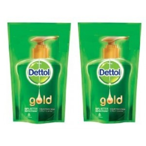 Buy Herbal Dettol Gold Liquid Handwash Daily Clean (Pack of 2) with Rs. 15 Off - Nykaa
