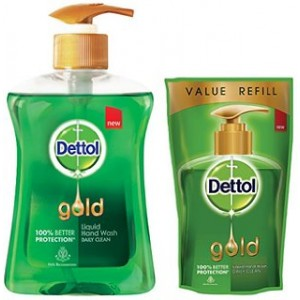 Buy Dettol Gold Liquid Handwash Daily Clean + Free Dettol Gold Pouch  - Nykaa