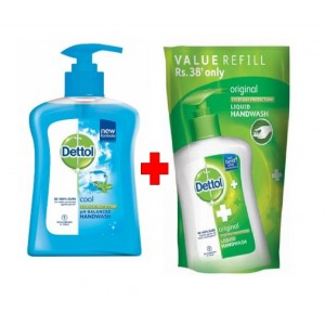 Buy Dettol Cool Ph-Balanced Handwash + Original Liquid Handwash Pouch 185ml - Nykaa