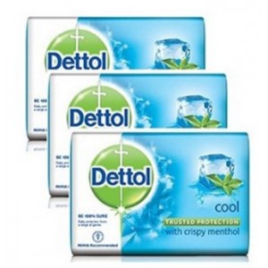 Buy Dettol Cool Menthol Soap Pack of 3  - Nykaa
