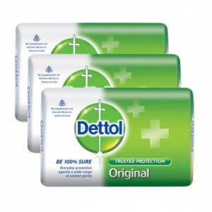 Buy Dettol Original Soap Pack of 3 (Rs. 5 off) - Nykaa