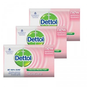 Buy Dettol Skincare Soap Pack of 3 (Rs. 5 off) - Nykaa