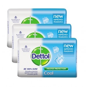 Buy Dettol Cool Soap Pack of 3 (Rs. 5 off) - Nykaa