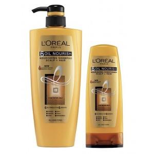 Buy L'Oreal Paris 6 Oil Nourish Shampoo 640 ml + L'Oreal Paris 6 Oil Nourish Conditioner - Nykaa