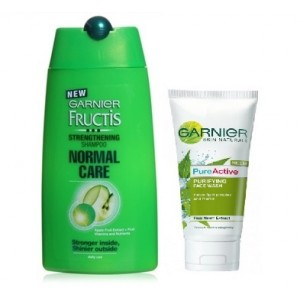 Buy Garnier Fructis Strenghthening Shampoo 80ml + Free Garnier Pure Active Neem Face Wash 15g - Nykaa