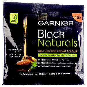 Buy Garnier Black Naturals Oil Enriched Cream Hair Colour - Nykaa