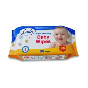 Buy Little's Soft Cleansing Baby Wipes (80 Count) - Nykaa