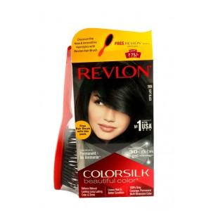 Buy Revlon Colorsilk Hair Color Soft Black 1WN + Free Hair Brush - Nykaa