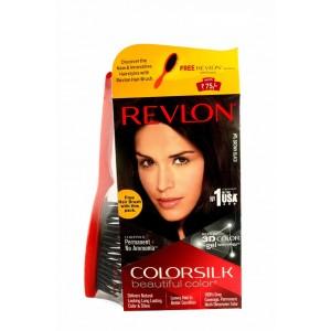 Buy Revlon Colorsilk Hair Color Brown Black 2N + Free Hair Brush - Nykaa