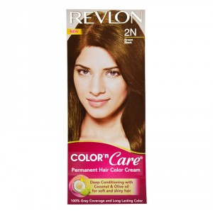Buy Herbal Revlon Color n Care Permanent Hair Color Cream - Brown Black 2N (Rs 25 off) - Nykaa