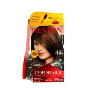 Buy Revlon Colorsilk Hair Color Medium Brown 4N + Free Hair Brush - Nykaa