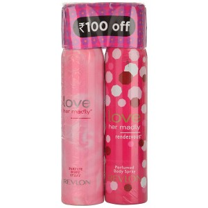 Buy Revlon Love Her Madly Rendezvous Perfumed Body Spray + Perfumed Body Spray (Rs. 100 Off) - Nykaa