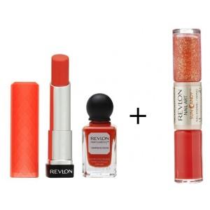 Buy Revlon Colorburst Lip Butter & Parfumerie Nail Enamel + Free Nail Art Sun Candy Nail Enamel - Nykaa