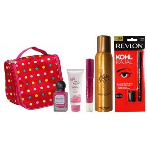 Buy Revlon Ultimate Beauty Collection With Carry Pouch (Pink) - Nykaa