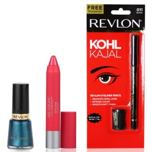 Buy Revlon Colorburst Matte Balm Unapologetic & Nail Enamel Peacock Blue + Free Eyeliner Pencil - Nykaa