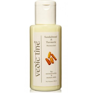 Buy Herbal Vedic Line Sandalwood & Turmeric Moisturizer - Nykaa