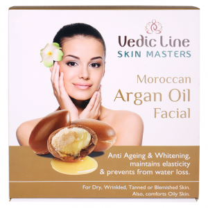 Buy Vedic Line Skin Masters Moroccan Argan Oil Facial Anti Ageing & Whitening + Free Green Apple Toner 200ml Worth Rs.225/- - Nykaa