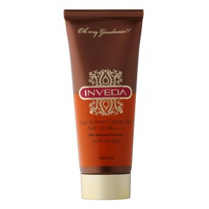 Buy Herbal Inveda Sun Screen Cream Gel SPF 30  - Nykaa