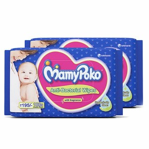 Buy MamyPoko Antibacteria Wipes With Fragrance Combo Pack - 200 Wipes - Nykaa