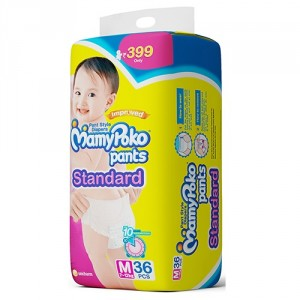 Buy MamyPoko Pants Standard Diaper - M (36 Pieces) - Nykaa