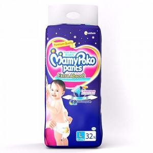Buy MamyPoko Pants Extra Absorb Diapers - L (32 Pieces) - Nykaa