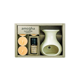 Buy Iris Amogha Vaporizer with 4 Tealights (10ml) - Sandal - Nykaa
