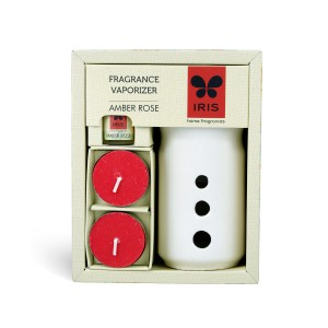 Buy Iris Fragrance Vaporizer with 2 Tealights (5ml) - Amber Rose - Nykaa