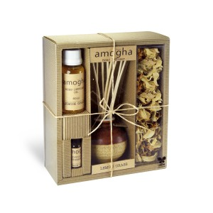 Buy Iris Amogha Reed Diffuser with 8 Sticks - Lemongrass - Nykaa