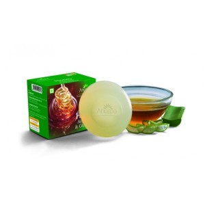 Buy Anuspa Aloe Vera & Glycerine Soap - Nykaa