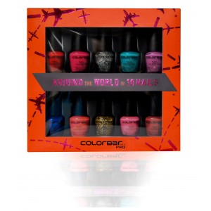 Buy Colorbar Nail Lacquer Pro Mini Collection - Around the World in 10 Nails Nail Kit - Nykaa