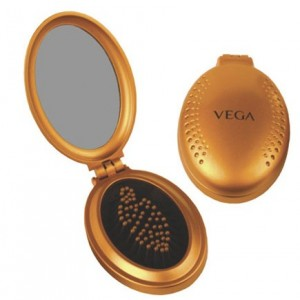 Buy Vega Small Oval Brush With Mirror (R3-FM Color May Vary) - Nykaa