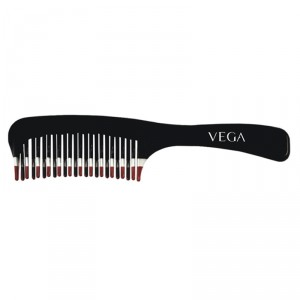 Buy Vega De-Tangling Comb (2 Row) (Color May Vary) - Nykaa